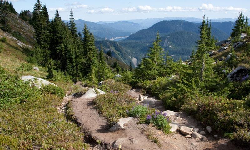 Hiking to Granite Mountain near Snoqualmie Pass