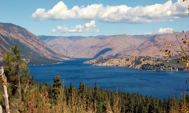 Lake Chelan near Leavenworth Washington