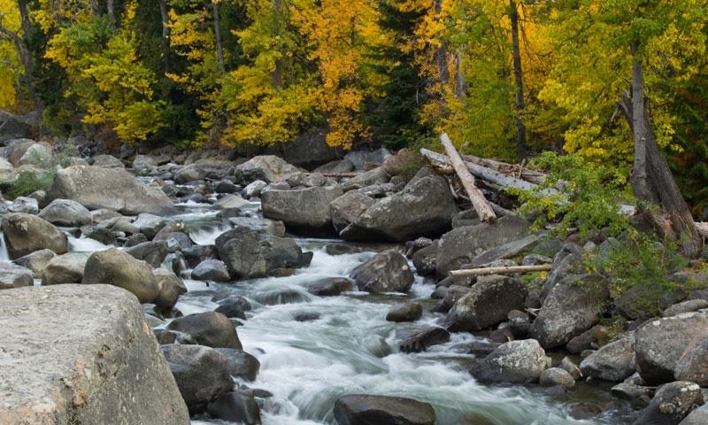 Icicle Creek in Leavenworth Washington
