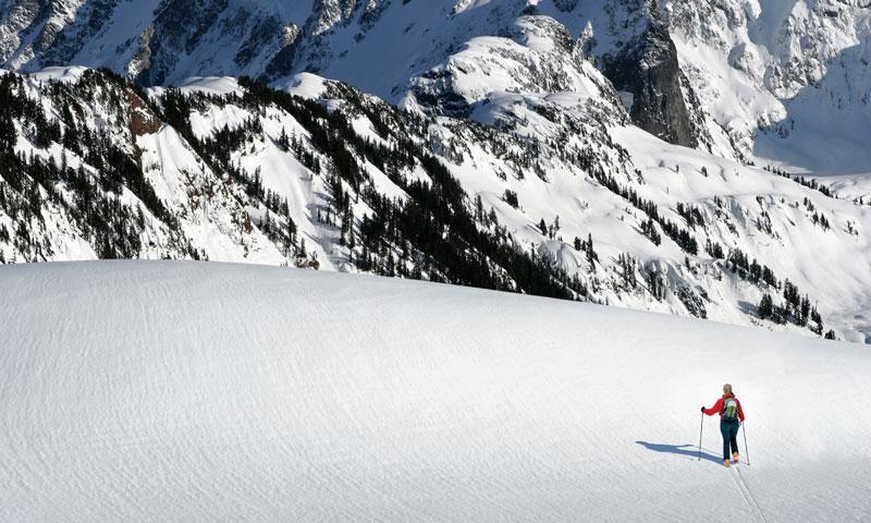 Backcountry Skiing near Mount Shuksan