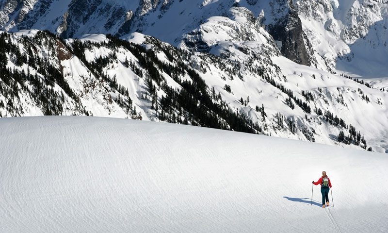 Backcountry Skiing near Mount Shuksan