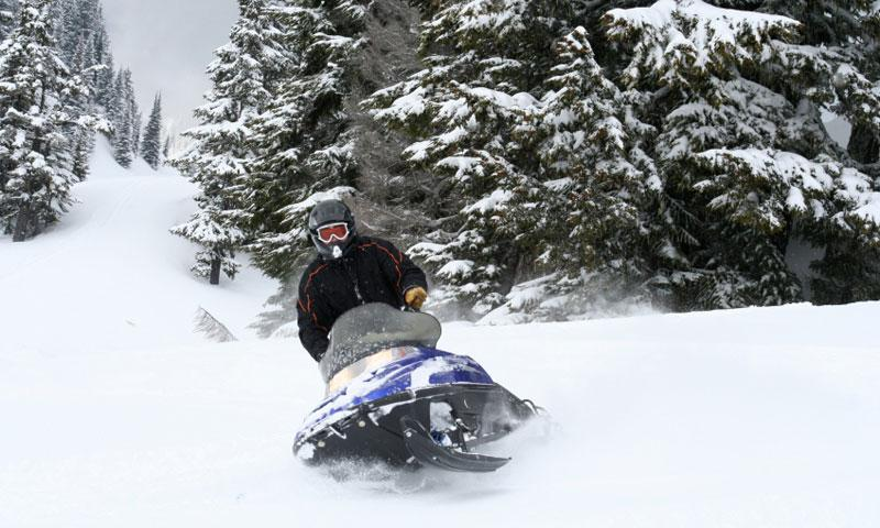 Snowmobiling in Snoqualmie National Forest