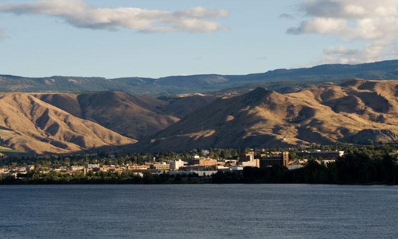 Wenatchee Washington along the Columbia River