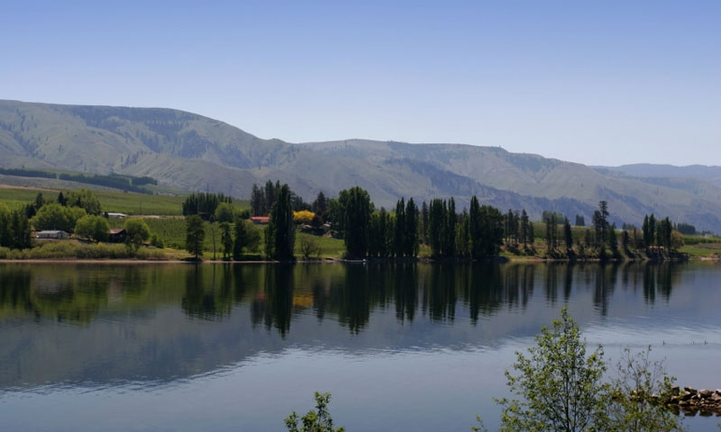 Lake Entiat near Leavenworth Washington