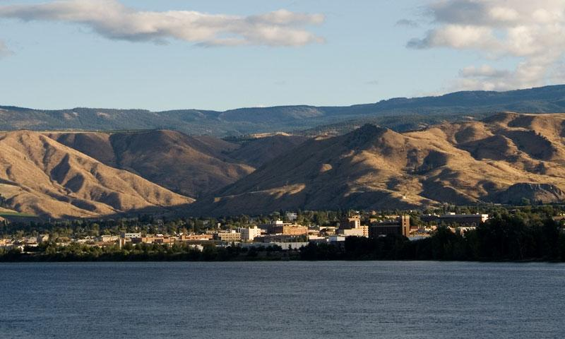 Wenatchee Washington along the Columbia River