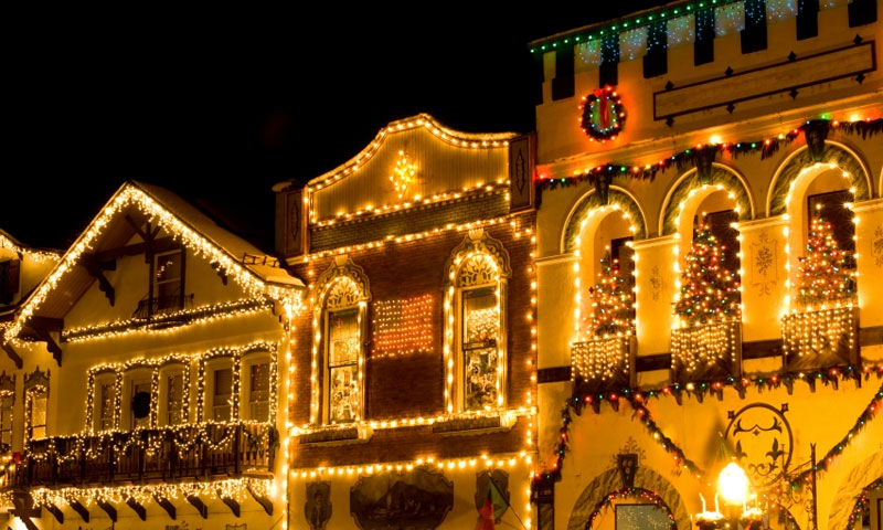 Christmas Lighting Ceremony in downtown Leavenworth